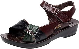 Chaussures Femmes Mode Été Cuir Nœud Sandales Compensées Confort Grande Taille