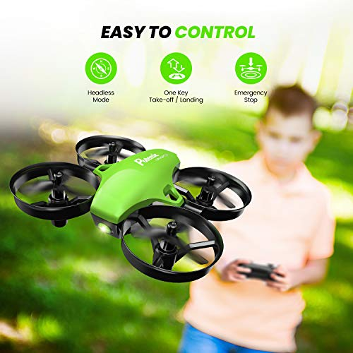 Potensic Upgraded A20 Mini Drone Easy to Fly Drone for Kids and Beginners, Indoor Outdoor RC Helicopter Quadcopter with Auto Hovering, Headless Mode, Remote Control and 3 Batteries for Boys Girls