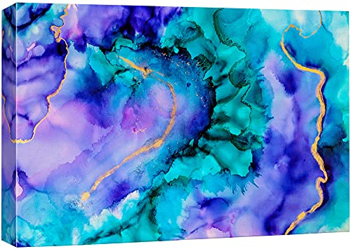 NWT Canvas Wall Art Beautiful Abstract Ink Painting Artwork for Home Prints Framed - 24x36 inches