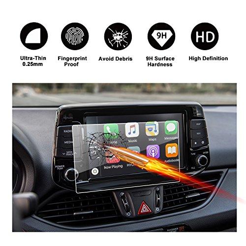 RUIYA Gehärtetem Glas Displayschutzfolie für 2016 2017 Hyundai i30 III (PD) i30 Wagonon Tomtom Live Navigations System [8 Zoll]