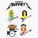 EMC Graphics Master of Muppets - Muppets As Metallica Band Vinyl Waterproof Sticker Decal Car Laptop Wall Window Bumper Sticker 5'