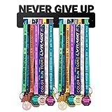 PROSCALE Medallero Colgador de medallas Medal Display Porta medallas de Madera para Colgar medallas Soporte Expositor medallas Deportivas Regalos para Deportistas (Never Give up)