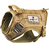 Tactical Service Dog Vest Harness K9 Military Molle Dog Vest for Outdoor Training Jagd Waterproof Pet Dog Harness with Rubber Handle & Metal Buckle