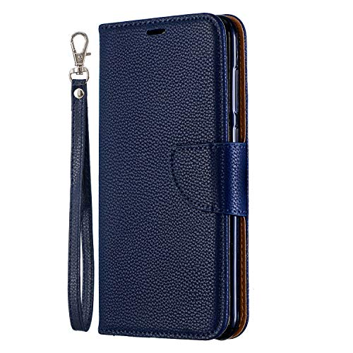 Discover Bargain Huawei Honor 8C Case, Lomogo Leather Wallet Case with Kickstand Card Holder Shockpr...