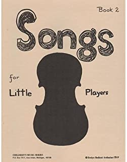 Songs for Little Players - Childrens Music Series Book 2 by Evelyn Avsharian