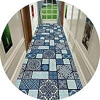 じゅうたん 廊下のカーペット 廊下敷きマット カーペット マット おくだけ吸着 ロングマット廊下敷きカーペット 廊下用絨毯洗える 滑り止め付 3Dパターン 防音 オールシーズン 素足が喜ぶ (Color : B, Size : 1.4x4m)