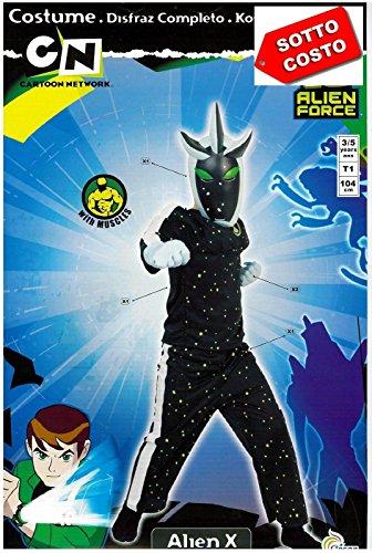 Costume Carnevale Ben Ten Alien X Anni 3-5