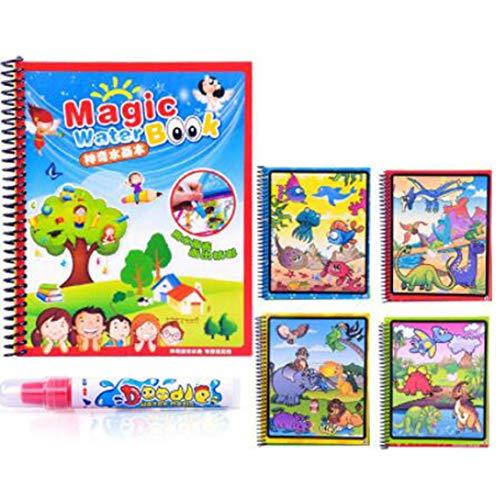 Doodle del Libro de Colorear del Agua mágica Libro para Colorear con Pluma mágica Tablero de Dibujo de Pintura para niños Juguete Educativo