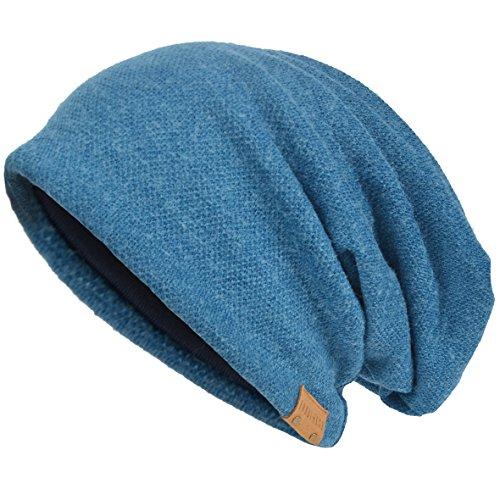 VECRY Herren Baumwolle Mütze Strickmützen Slouch Beanie Schädel Cap Winter Sommer Hüte (Blau)