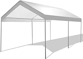 GYMAX Canopy, 10' x 20' Portable Carport Party Tent Garage Shelter with Waterproof, for Outdoor Party BBQ