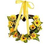 Künstlicher Girlandenkranz DIY gelber Sonnenblumenkranz der Ostern dekorativ für Haustürwand zu...
