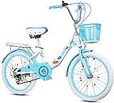 ZZWW Pliant à Vitesse Variable de Bicyclette - garçons vélos for Enfants et Les Filles de 18 Pouces 20 Pouces 22 Pouces Poussette bébé Big Enfants de l'école Primaire Les élèves pédales vélo Pliant,