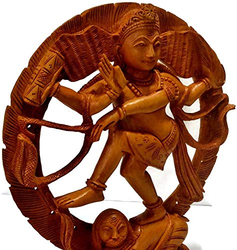 Riesiger Korb, 400-10 Zoll, Shiva Nataraja Idol Holzskulptur, handgefertigt, hinduistischer Gott tanzt Shiva Diwali Dekor, Geschenke