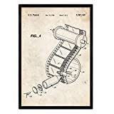 Nacnic Poster Patentrolle Kamera. Blatt mit altem