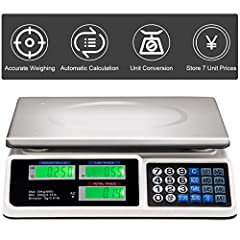 ❗This Product is Not for Sale in California and New York❗ Dear customer, if the receiver's address is in California or New York, please don't buy this item. Thank you! 【Weighting, Pricing and Counting】Like most price computing scale, this electronic ...