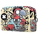 Bolsas de Aseo Bombín Parrot Guitar Hombres y Mujeres Bolsa de Almacenamiento de Viaje Suave al Tacto de Impresa Personalizada 18.5x7.5x13cm
