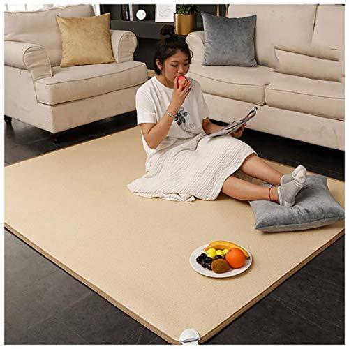 LHSG Fußwärmer-Heizkissen, vielseitiger beheizter Teppich mit Ferninfrarot, intelligente Temperaturregelung können auch als Yogamatte oder beheizte Kohlekristallmatte verwendet Werden