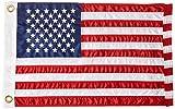 12' x 18' Nylon US Flag w/Embroider Stars