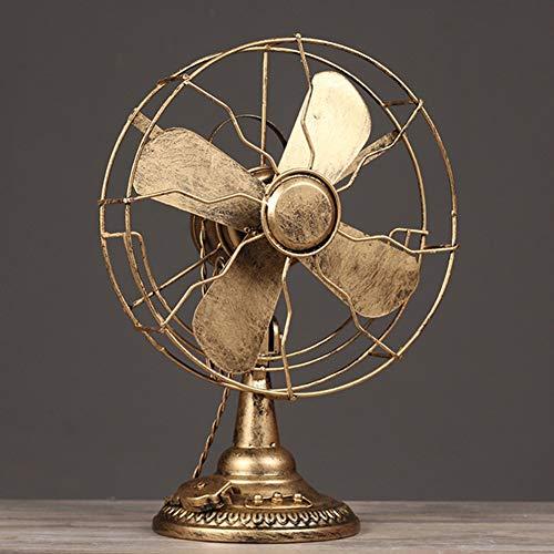WNTHBJ Retro elektrische ventilator model, raam decoratie, cafe fotografie rekwisieten, antieke ambachten in ijzeren bars, woonkamer home decoratie ingang