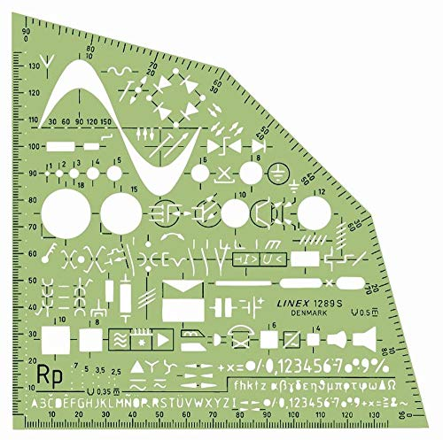 Linex 100414310 Équerre électrique avec pochoir à dessin Tuschenoppen