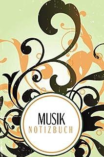 Musik Notizbuch: Notenheft für Unterwegs | Notenpapier | Notenheft für Kinder | Notennotizbuch für die Schule oder als Hobby | A5 | Musiklinien Buch