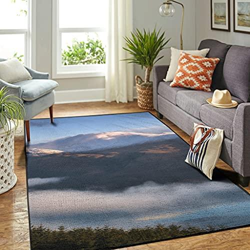 Veryday Alfombra decorativa para el salón o la puerta del dormitorio o la cocina, color blanco, 122 x 183 cm