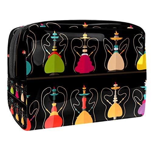 Reise-Make-up-Tasche Große Kosmetiktasche,Shisha Nargile Shissha Muster ,Make-up-Tasche Organizer für Frauen und Mädchen