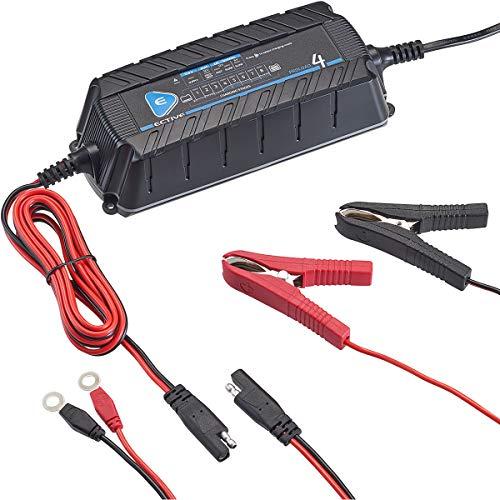 ECTIVE 12V Batterie-Ladegerät KFZ 8A Vollautomatisch 9-Stufen IUoU Aufladegerät für Auto und Motorrad Batterie Akku
