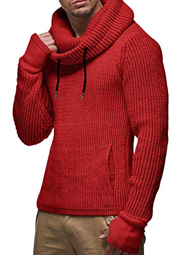 COOFANDY Men Fall Winter Sweaters Casual Turtleneck Cable Knit Top Shirts