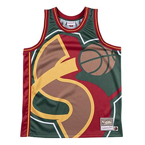 Mitchell /& Ness M/&N Big Face Basketball Jersey HWC San Antonio Spurs