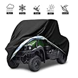 VVHOOY UTV Cover Waterproof All Weather,Heavy Duty Oxford Utility Vehicle Storage Cover Compatible with Polaris Ranger RZR Pioneer Yamaha Honda Kawasaki Mule Rhino(XL,114.17 x 59.06 x 74.80inch,Black)