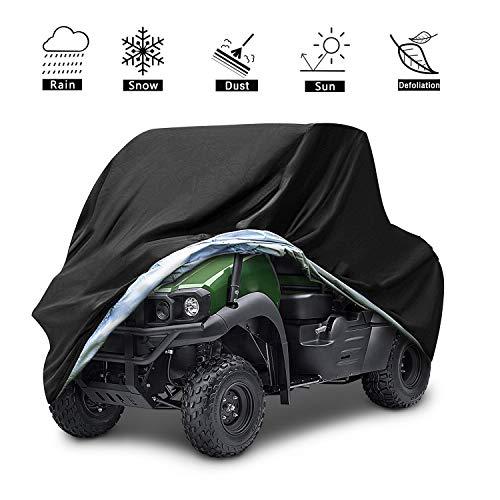 VVHOOY UTV Cover Waterproof All Weather,Heavy Duty Oxford Utility Vehicle Storage Cover Compatible with Polaris Ranger RZR Pioneer Yamaha Honda Kawasaki Mule Rhino(XL,114.17 x 59.06 x 74.80inch,Black)