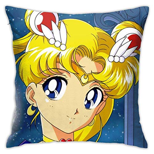 WH-CLA Almohada Cubierta Marinero De La Luna Fundas Cojín Exquisito Tirar Almohada Cojin Decorativa Throw Pillow Case para Cumpleaños Oficina Cama M