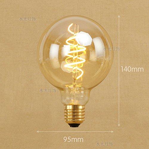 Edison 220V 4W zacht licht bar LED-lichtbron warme kleur lamp beeldschermbeschermer E27 grote schroef binnenland, 4, G95 wikkeling soft light bar LED, warmwit
