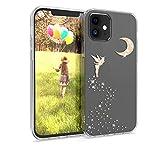kwmobile Cover Compatibile con Apple iPhone 12/12 PRO - Back Case Custodia Posteriore in Silicone TPU per Smartphone - Backcover Fata alata Oro Rosa/Trasparente