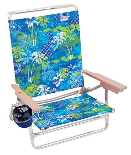 Beach Classic 5 Flat Lay Folding Beach Chair by Rio