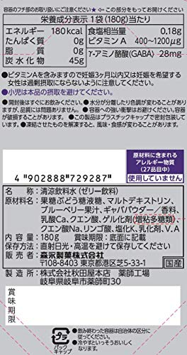 『[Amazon限定ブランド]BODY SUPPORT W inゼリー GAME BOOSTER ブルーベリー味 (180g×6個) ゲーム専用inゼリー ビタミンA・GABA配合』のトップ画像