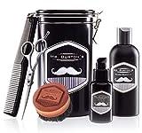 Bild des Produktes 'Hochwertiges Bartpflege Set - inklusive Mr. Burton´s Bartöl, Bartbürste, Bartschere und Kamm - als Geschenk, oder Geburtstagsgeschenk für Männer und Bartträger (CLASSIC)'