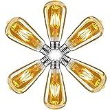 Bombilla Vintage E27 Edison,Retro Edison Bombillas LED Vintage,ST64 Edison Bombillas Decorativas 4W(Equivalente 40W)400LM,Blanco Cálido 2700K,Lámpara Ambar for Casa,Restaurante,Bar,Cafetería,Pack de 6