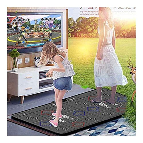MCRDAE Non-Slip Dancing Blanket Dance mat 3D, Yoga Weight loss exercise HD Quality, PU Material, With A Wireless Host Box, Accepts The Signal, (2 Handles) 112