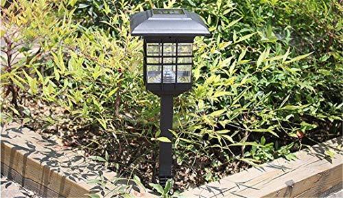 LPPWDO Luz Solar del Césped Al Aire Libre Impermeable Decoracion Columna Pared Patio Ahorro Energético Y Protección del Medio Ambiente Lámpara Pie B