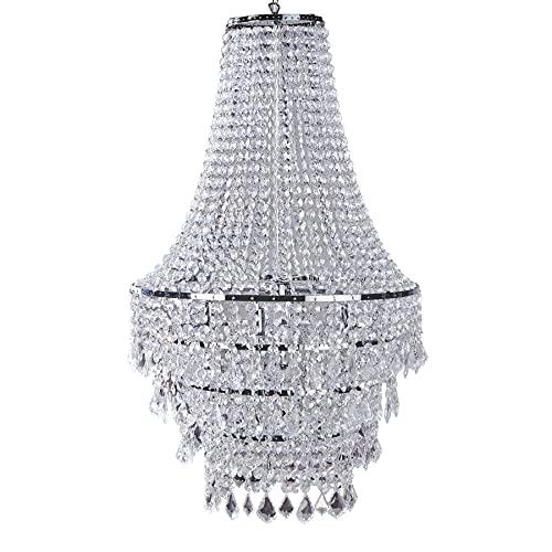 Große XL Design Hängelampe ROYAL Kristall Strass Kronleuchter Lampe Hängeleuchte Lüster klar Acrylglas