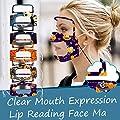 Lood ?US Fast Shipment ? 5 pc Adult Face Bandanas with Detachable Glasses,Reusable Cotton Breathable Transparent Lip Reading Expression