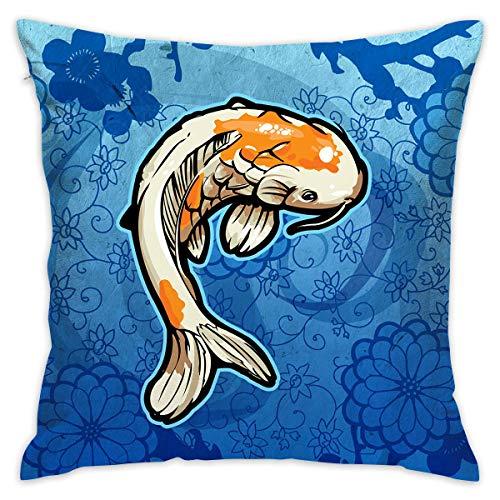 AEMAPE Throw Pillow Cover Colorful Carp Bed Sofá Funda de Almohada Almohada para Dormir Cojín Suave 40 X 40