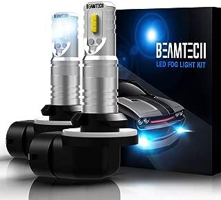 BEAMTECH 881 Led Fog Light Bulb,894 898 886 CSP Chips 6500K 800 Lumens Xenon White Extremely Super Bright