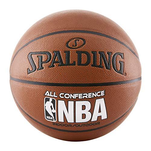 Balón de Baloncesto Spalding All, NBA, Color marrón, tamaño 74,93 cm