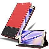 Cadorabo Funda Libro para Samsung Galaxy A5 2015 en Rojo Negro - Cubierta Proteccíon con Cierre Magnético, Tarjetero y Función de Suporte - Etui Case Cover Carcasa
