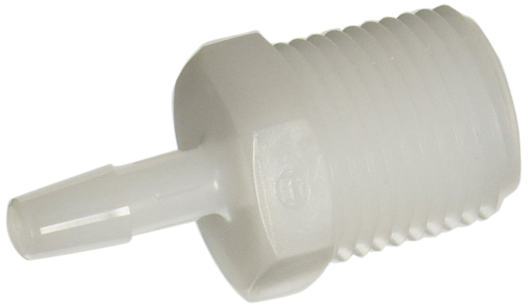 Pack of 10 3//8-18 NPT to 3//8 Hose Barb 3//8-18 NPT to 3//8 Hose Barb Pack of 10 Eldon James A6-6NN Natural Nylon Adapter Fitting