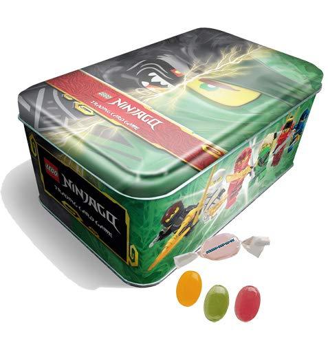 """★ Blue Ocean L.ego® Ninjago™ Trading Cards Serie 6 \""""DIE Insel - Mega Tin Grün inkl. 10 Booster zusätzlich erhalten Sie 1 x Fruchtmix Sticker-und-co Bonbon"""