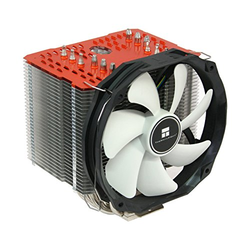 Thermalright ARO-M14 Orange AMD Ryzen CPU-Kühler, 6 x 6mm Heatpipes, TY 147A PWM Lüfter (300-1.300 U/min, 15-21 dBa, 28,7-125 m³/h), Chill Factor Wärmeleitpaste voraufgetragen, orange